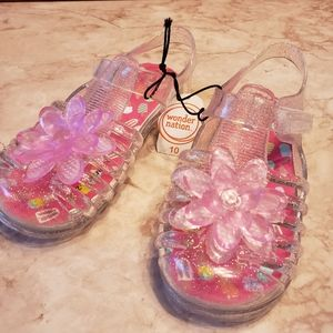 💫Wonder Nation toddler jelly shoes